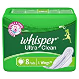 Whisper Ultra Clean - 8 Pads (L Wings)