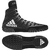 adidas adiZero Varner Mens Wrestling Shoes, Black/White/Black Size 10