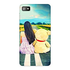Enticing Girl Teddy Multicolor Back Case Cover for Blackberry Z10
