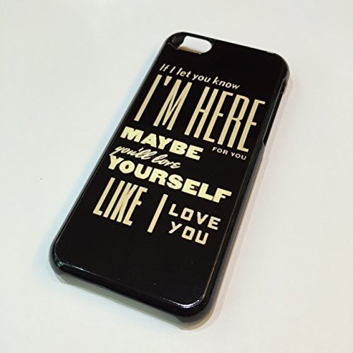 iPhone 5C for Apple, PVC Hard Case Snap Cover, Little Things Lyric - If I let you know, I'm here for you Maybe you'll love yourself like I love you oh (One Direction Bff compare prices)