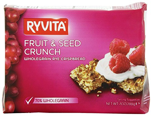 Ryvita Fruit and Seed Crunch Crispbreads, 7 Ounce (Pack of 8) (Fruit Crunch compare prices)