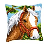 Vervaco Pony Cross Stitch Cushion Multi Colour