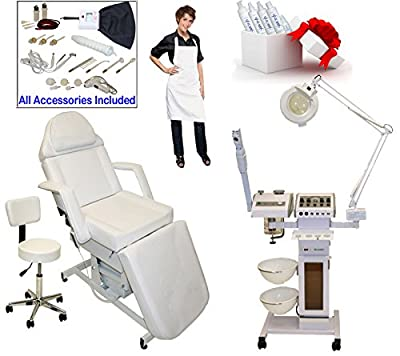 LCL Beauty 11 in 1 Multifunction Facial Machine & Adjustable Electric Massage Bed Chair Package