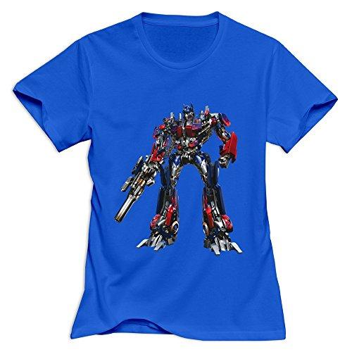 StaBe Women Optimus Prime Transformer T-Shirt Slim Fit Quotes L RoyalBlue