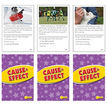 Cause and Effect Practice Cards Yellow Level