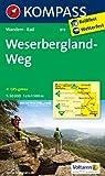 Weserbergland-Weg: Wanderkarte mit Radtouren. GPS-genau. 1:50000