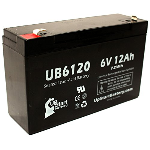 Watchmaster 5G1240 Battery - Replacement Ub6120 Universal Sealed Lead Acid Battery (6V, 12Ah, 12000Mah, F1 Terminal, Agm, Sla) - Includes Two F1 To F2 Terminal Adapters