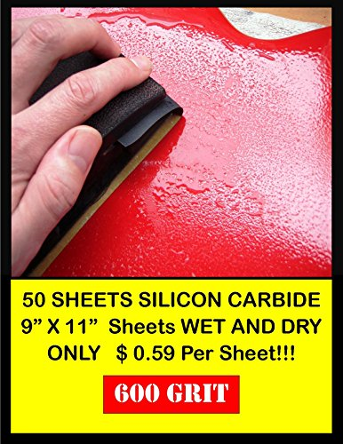 50 Sheet Wet & Dry Silicone Carbide 600 Grit Sand Paper Pack (3m Imperial 600 Grit compare prices)
