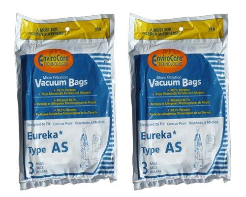 6 Eureka Upright AirSpeed (AS) Vacuum Cleaner Allergy Bags, 68155-6, 68155, 66655, 67726, Filtrete - 21-2440-06, 84404, Airspeed Pet Bagged, Air Speed Upright (Filtrete Eureka As Vacuum Bags compare prices)