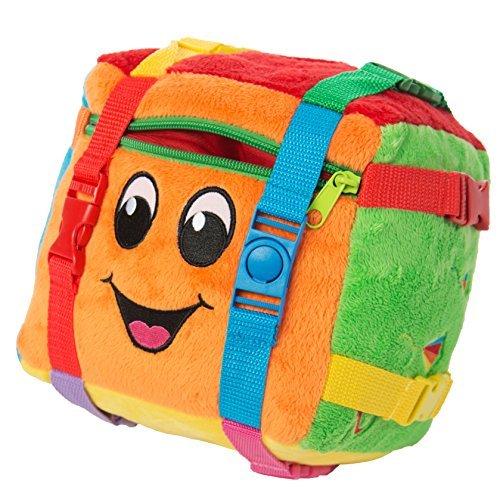 BUCKLE-TOY-Bingo-Activity-Cube-Toddler-Early-Learning-Basic-Life-Skills-Childrens-Travel-Plush