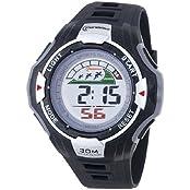 Water-proof Digital Boys Girls Multi-Function Grey Black Rubber Strap Sport Watch MR-8006028-3