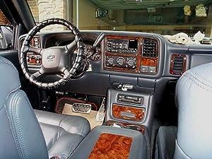 Chevrolet Chevy Tahoe Interior Wood Dash Trim Kit Set 2000 2001 2002 Automotive