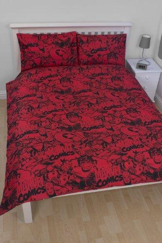 parure de lit marvel comics pour 2 personnes 200 200 cm. Black Bedroom Furniture Sets. Home Design Ideas
