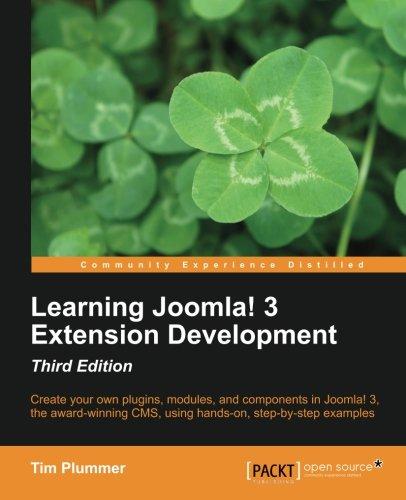 Learning Joomla! 3 Extension Development-Third