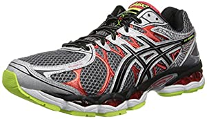 ASICS Men's Gel-Nimbus 16 4E Running Shoe,Titanium/Black/Red,12.5 4E US