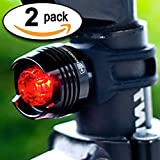 """#1 LED Tail Light! 100% LIFETIME GUARANTEE Money Back, 2-FOR-1 DEAL, Batteries Included, High Intensity Multi-Purpose Rear Bike Light - Magnus Innovation's """"Bold"""" Fits on Bikes, Helmets, Backpacks, Easy Install (No Tools), Waterproof - 50% OFF TODAY - Limited Time Offer, BUY NOW"""