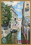 TR4 Vintage Italian Venice Venezia Italy Travel Poster Re-Print - A4 (297 x 210mm) 11.7