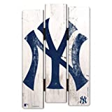 WinCraft MLB New York Yankees Wood Fence Sign, Black (Color: Black)
