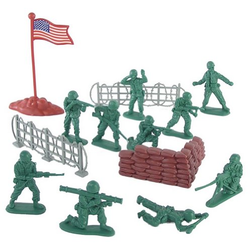 Buy Low Price Hingfat 38 piece Plastic Army Men American GI Soldier Figures Play Set 54mm by Hingfat (B002U2PEAC)