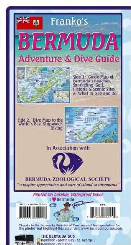 Bermuda Adventure & Dive Guide Franko Maps Waterproof Map