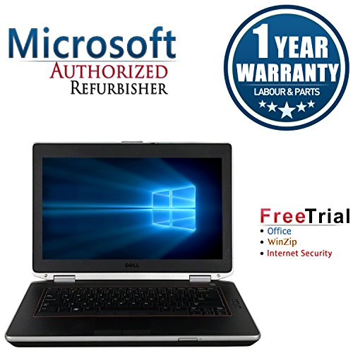 Refurbished – Dell E6420 14.1″ Laptop Intel CORE I5 2520M 2.5GHz, 4G DDR3 Memory, 250G Hard Drive, DVD, Windows 7 Professional 64-bit, 1 Year Warranty