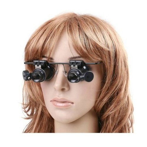 Shot-In High Quality Novel Watch Repair Binocular Magnifier 20X Glasses Type With Nofdxh