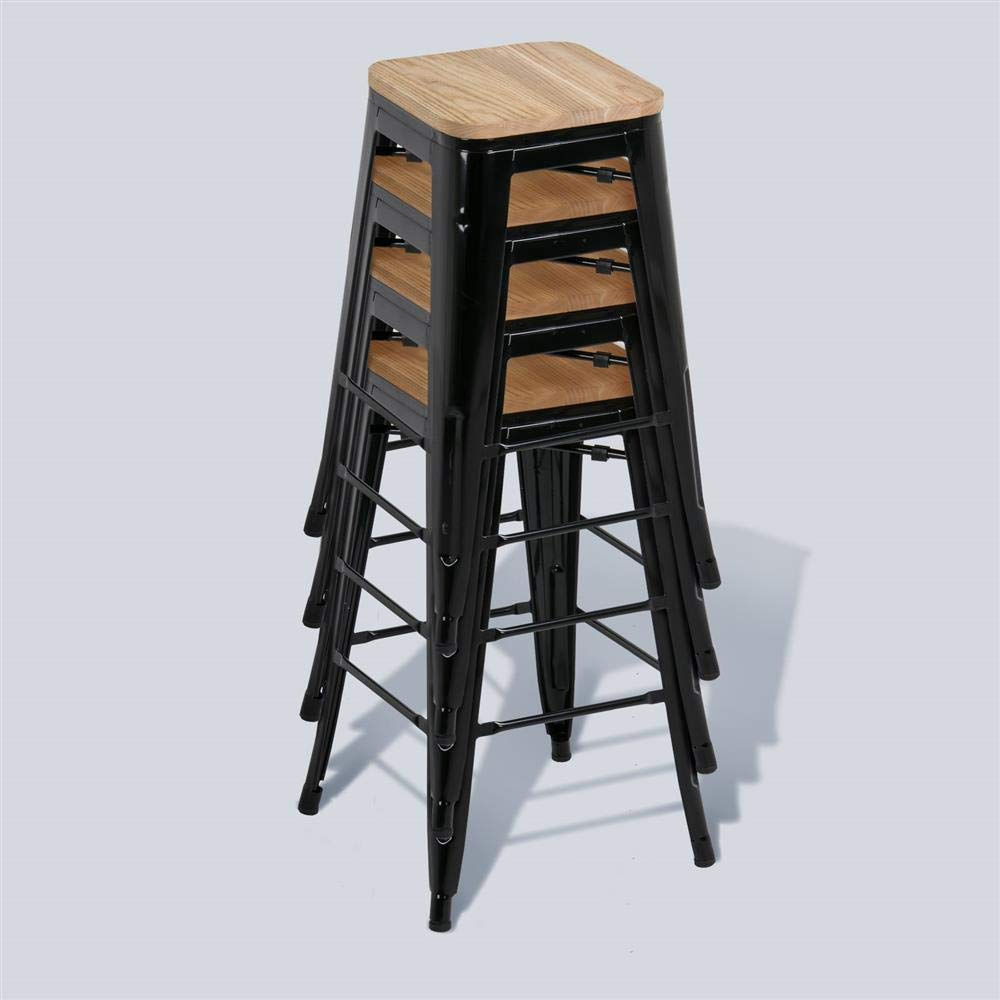 Yaheetech 26 Inches Counter Height Metal Bar Stools Set Of
