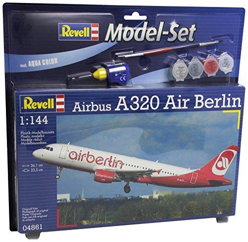 Revell-64861-Modellbausatz-mit-Zubehr-Model-Set-Airbus-A320-Air-Berlin-Mastab-1144