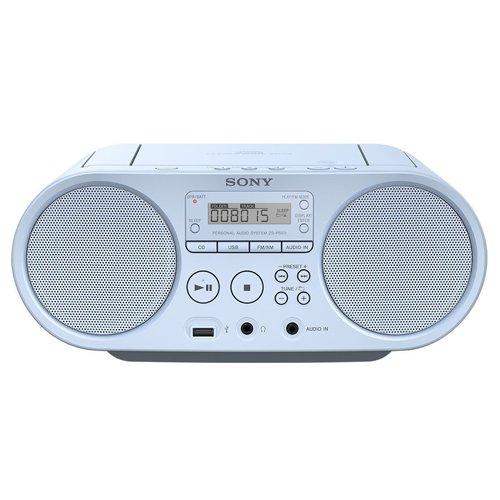Sony ZSP-S50 Stereo Portatile con Lettore CD, Radio FM, Ingresso Aux, USB, Azzurro