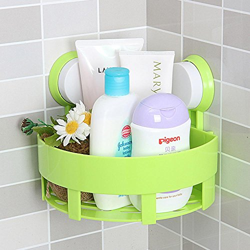 SSBY Fashion without dual suction cup triangle and a plastic rectangular wall-mounted racks, three color optional , Green