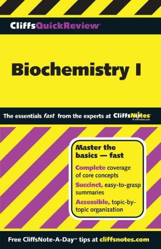 Cliffsquickreview Biochemistry I