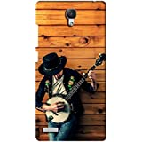 AMAN Music Man 3D Back Cover For Xiaomi Redmi Note 4G