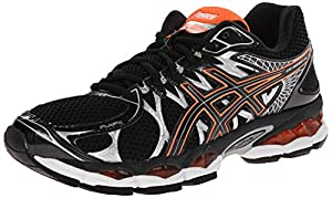 ASICS Men's Gel-Nimbus 16 Running Shoe,Black/Onyx/Orange,10.5 M US
