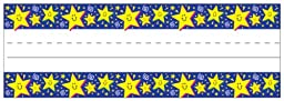 Eureka Self-Adhesive Name Plates, Set of 36, Stars, 9.5 x 3.25 Inches (833110) - DISCONTINUED by Manufacturer