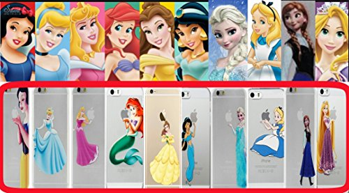 NEW Disney PRINCESSES Transparent TPU Soft case for Apple Iphone 4/4S 5/5S 5C 6/6S & 6+/6+S * Check Special Offer*