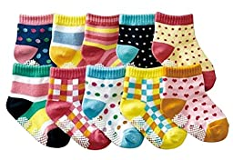 Toddler Baby Anti Slip Socks Floor Socks Set, Pack of 10 Pairs