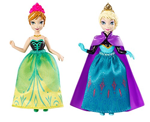 Disney Frozen Princess Sisters Celebration Anna and Elsa Small Doll, 2-Pack - 1