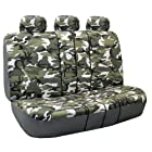 FH-FB109013 Camouflage Bench Seat Cover 40/60 Split, Light