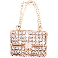 The New Pink Rhinestone Buckle Bag Keychain Keychain Christmas Gift Bag Diamond Pendant Keychain