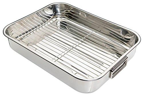 kitchen-craft-fuente-de-horno-rectangular-con-rejilla-acero-inoxidable-color-plateado