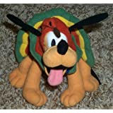 "Retired Out Of Production Disney Mickey Mouse Clubhouse Pluto 8"" Plush Bean Bag Doll Dressed As A Tu"