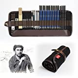 Tinpa 33 Pcs Sketch Drawing Pencils Set With Graphite Pencils,Charcoal Pencils,Craft Knife,Drawing Pencils Pro at Supply for Artist,Beginner,Student (Color: Grey)