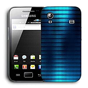 Snoogg Blue Spots Printed Protective Phone Back Case Cover For Samsung Galaxy ACE S5830