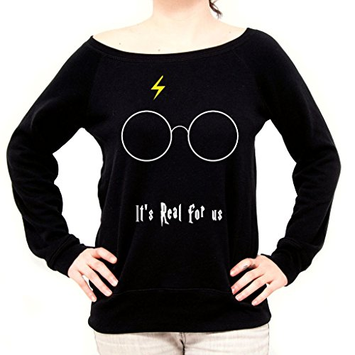 Felpa Fashion HARRY POTTER REAL - FILM by Mush Dress Your Style - Donna-S-Nera