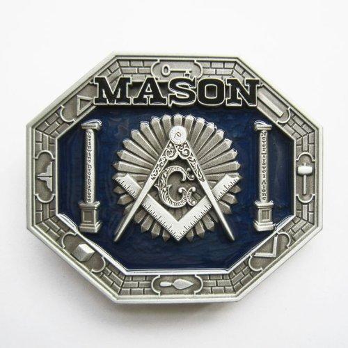 BLUE MASON BELT BUCKLE Masonic Lodge Symbols DETAILED belt buckle
