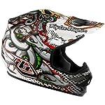 Troy Lee Designs Medusa Air Off-Road/Dirt Bike Motorcycle Helmet - White / X-Large