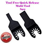 2 Multi Tool Oscillating Multitool Saw Blade for Craftsman 20v Bolt-on Mm20 Rockwell Hyperlock Shopseies 12v Universal Fit Porter Cable Black and Decker Bosch GOP Tool Free Quick Release Quick Fit System