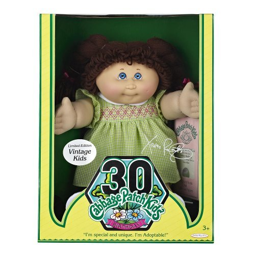 cabbage-patch-kids-vintage-doll-limited-edition-30th-birthday-brunette-hair-with-green-white-checker