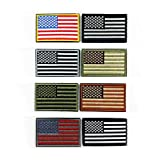 MUNAN 8 Pack USA American Flag Embroidered Patches - 3