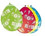 Toy - 8 Luftballons farbl. sort. Einschulung ABC Erster Schultag